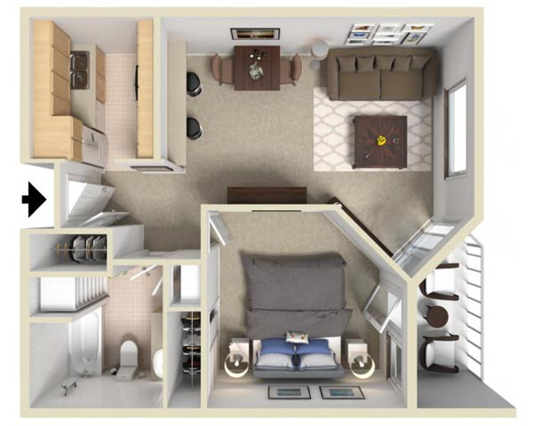 Our Apartments on One Story House Plans With Large Kitchens